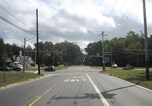County Route 532 (New Jersey) - CR 532 eastbound at US 206