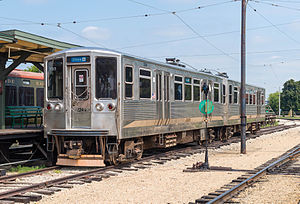 2200 series (CTA) - Cars 2244 and 2243 at the Illinois Railway Museum in July 2014