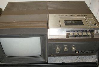 Compact Video Cassette - Technicolor CVC Videocassette recorder with monitor