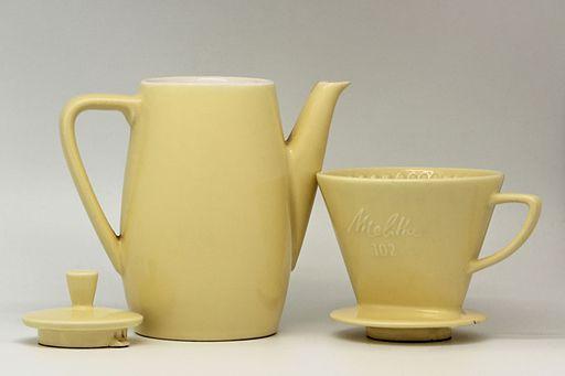 Cafetière à filtre Melitta 102 en faïence jaune 11