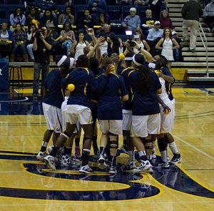 California Golden Bears - The 2012 Cal Women's Basketball team before a game.
