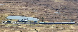 Caledonian Sleeper At Corrour Station (17738023599).jpg