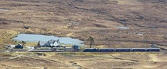 Caledonian Sleeper - Image: Caledonian Sleeper At Corrour Station (17738023599)