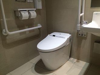 Washlet - A typical washlet in Japan