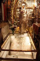 Calvary stone, Holy Sepulchre 2010 7.jpg