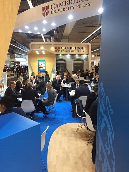 Cambridge University Press's stand at the Frankfurt Book Fair 2018 Cambridge University Press's stand at the Frankfurt Book Fair 2018.jpg