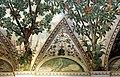 Camillo mantovano, volta della sala a fogliami di palazzo grimani, 1560-65 ca., lunette con grottesche e rebus allusivi al processo per eresia di giovanni grimani 09.jpg
