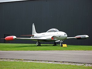 Canadair CT-133 Silver Star - A Canadair CT-133 Silver Star at RAF Elvington