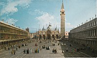 A View of Piazza San Marco looking east towards the the basilica