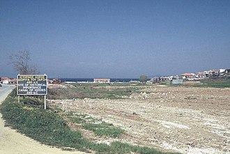 Bubares - Northern end of the Xerxes Canal, now filled up.