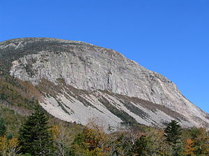 Cannon Mountain (New Hampshire) - Cannon Cliff, the southeast face of Cannon Mountain
