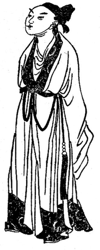 Cao Zhi - Portrait of Cao Zhi from a Qing dynasty edition of the historical novel Romance of the Three Kingdoms