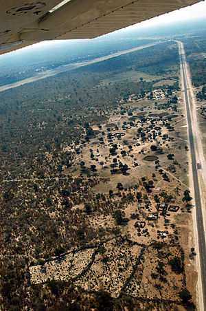 Katima Mulilo: Caprivi Highway near Katima aerial