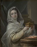 Carle van Loo - A Vestal. Woman portrayed as a Vestal^ - KMS7396 - Statens Museum for Kunst.jpg