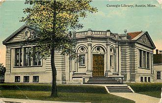 Austin Public Library (Minnesota) - The original Carnegie Library in Austin