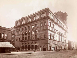 Carnegie Hall - Carnegie Hall in 1895