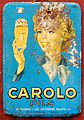 Carolo Pils, brasserie Les Ouvriers Reunis, metal advertising sign.JPG