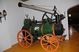 Marshall, Sons & Co. - Traction engine in Geraz do Lima museum, Viana do Castelo, Portugal