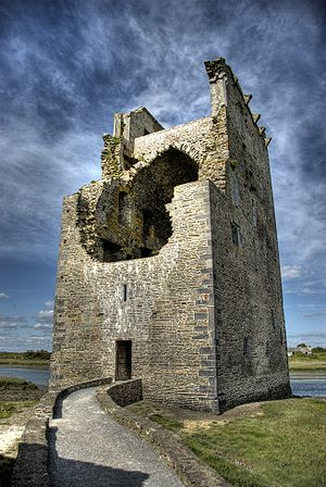 FitzGerald dynasty - Carrigafoyle Castle, a Desmond Geraldine stronghold during the Second Desmond Rebellion, captured by the English in 1580