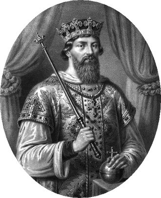 Casimir I the Restorer - Portrait by Aleksander Lesser.