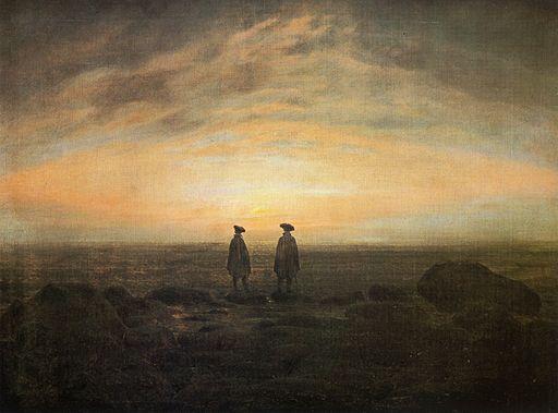 Caspar David Friedrich Zwei Männer am Meer