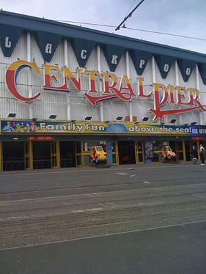 Central Pier, Blackpool - The facade of the pier in July 2011.