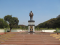 Central statue of Dr Babasaheb Ambedkar in Dr. Babasaheb Ambedkar Marathwada University, India (1).png