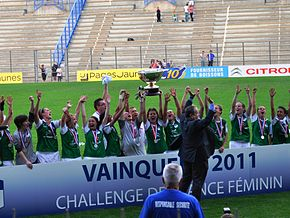 L'AS Saint-Étienne remporte le challenge de France en 2011.