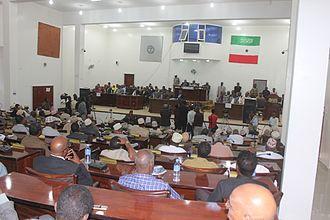 Parliament of Somaliland - Image: Chamber of Somaliland Parliament