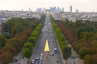 Champs-Élysées - Image: Champs Elysées, vue de la Concorde à l'Etoile