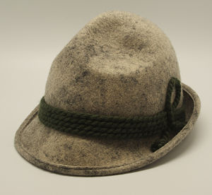 Tyrolean hat - Grey variant of the Tyrolean hat
