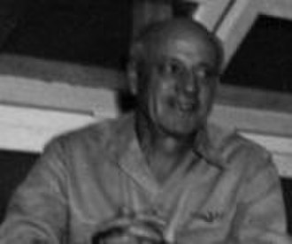 Charles Alan Pownall - Pownall sitting on the Guam Island Court in 1947