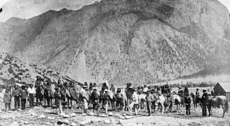 St'at'imc - Historic photo of Lillooet Indians by Charles Gentile, 1865