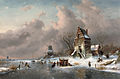 Charles Leickert (Brussels 1816-1907 Mainz - Winter scene 1892.jpg