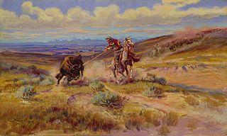 Spearing a Buffalo