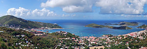 United States Virgin Islands - Charlotte Amalie, St. Thomas, the Islands' capital.