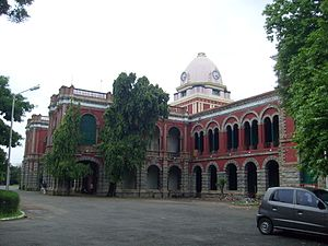 Presidency College, Chennai - Close up view of the main entrance to the Presidency College