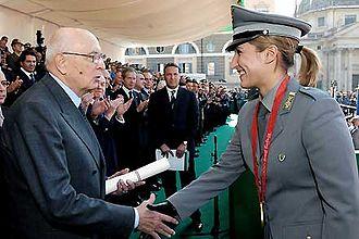 Chiara Cainero - Chiara Cainero with the former President of Italy, Giorgio Napolitano