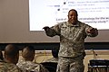 Chief Warrant Officer 5, David Williams, the first Army Staff Senior Warrant Officer, speaks to warrant officers from across Fort Bragg, North Carolina.jpg