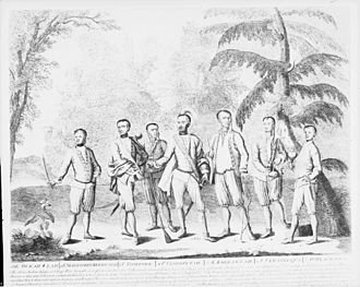 Cherokee clans - Seven Cherokee chiefs who accompanied Sir Alexander Cumming, to England, representing every region in which the Cherokee then lived.
