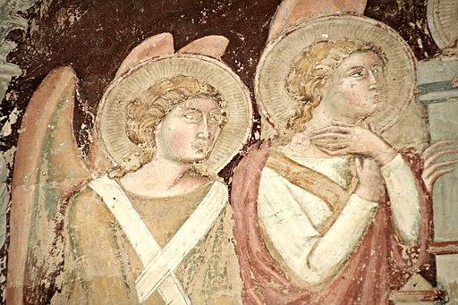 Madonna in trono (particolare), chiesa San Francesco (Lucignano)