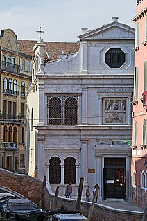 historical scuola (confraternity house), now art gallery, in Venice, Italy