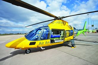 The Air Ambulance Service - The Children's Air Ambulance helicopter at Coventry Airport.