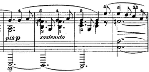 Nocturnes, Op. 37 (Chopin) - Secondary theme of Opus 37 No. 2