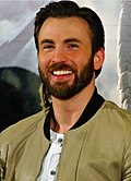 Actor Chris Evans at a press conference in 2014