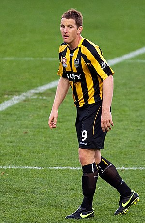 Chris Greenacre - Greenacre playing for Wellington Phoenix in 2009.