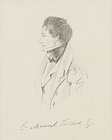 Christopher Rice Mansel Talbot by Alfred Count D'Orsay in 1834.jpg