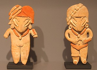 Acámbaro - Two Chupicuaro culture ceramic figurines, 500 - 0 B.C.
