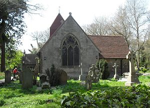 Church in the Wood, Hollington - The east end has a stained glass window by Jean-Baptiste Capronnier.
