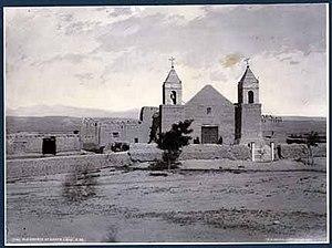 Santa Cruz, New Mexico - The Santa Cruz church in 1881. Photo by William Henry Jackson.